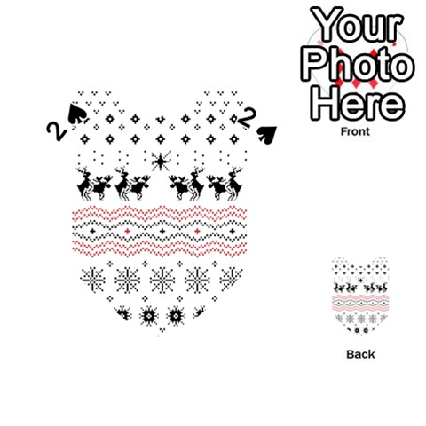 Ugly Christmas Humping Playing Cards 54 (Heart)