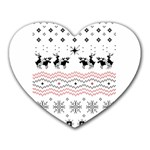 Ugly Christmas Humping Heart Mousepads Front