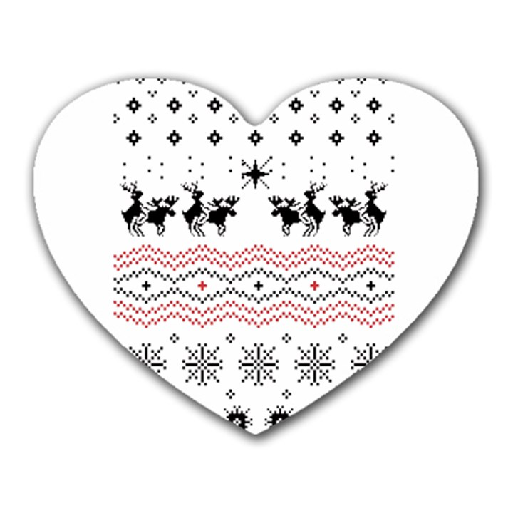 Ugly Christmas Humping Heart Mousepads