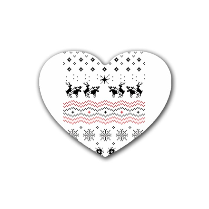 Ugly Christmas Humping Rubber Coaster (Heart)