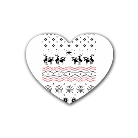Ugly Christmas Humping Heart Coaster (4 pack)