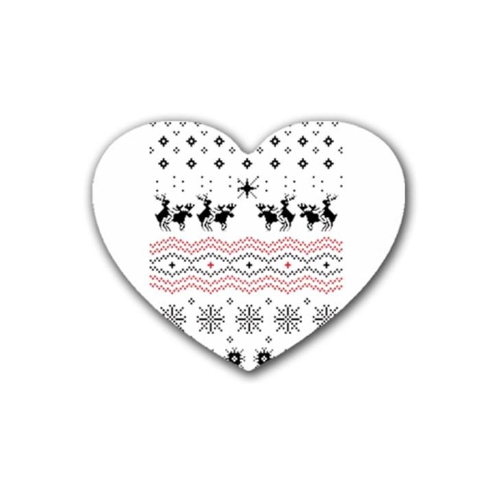 Ugly Christmas Humping Heart Coaster (4 pack)