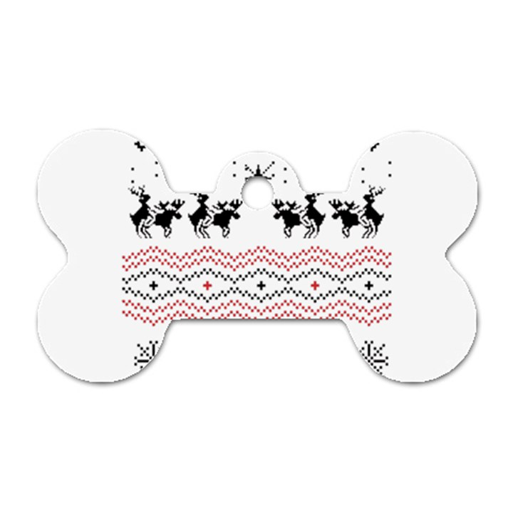 Ugly Christmas Humping Dog Tag Bone (One Side)