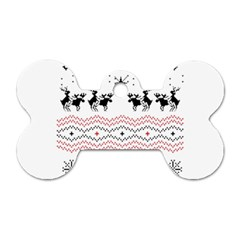 Ugly Christmas Humping Dog Tag Bone (Two Sides)