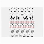 Ugly Christmas Humping Large Glasses Cloth Front