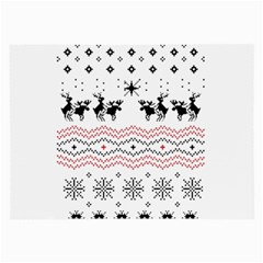 Ugly Christmas Humping Large Glasses Cloth (2 Side)