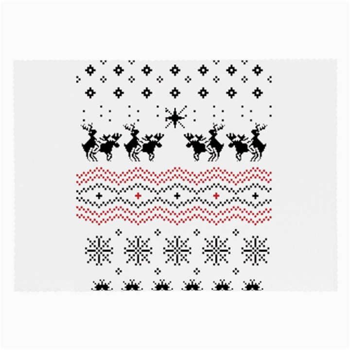 Ugly Christmas Humping Large Glasses Cloth (2-Side)