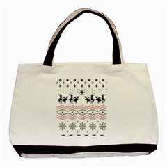 Ugly Christmas Humping Basic Tote Bag (Two Sides)