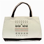 Ugly Christmas Humping Basic Tote Bag (Two Sides) Back