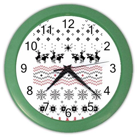 Ugly Christmas Humping Color Wall Clocks