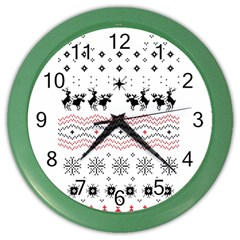 Ugly Christmas Humping Color Wall Clocks