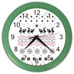 Ugly Christmas Humping Color Wall Clocks Front