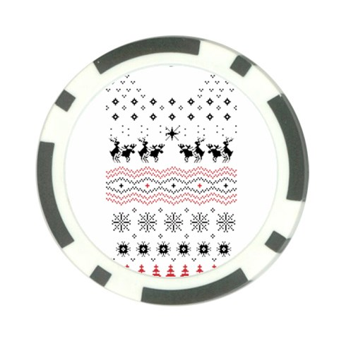 Ugly Christmas Humping Poker Chip Card Guards