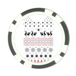Ugly Christmas Humping Poker Chip Card Guards Front