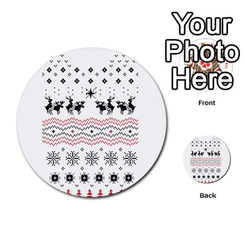 Ugly Christmas Humping Multi-purpose Cards (Round)