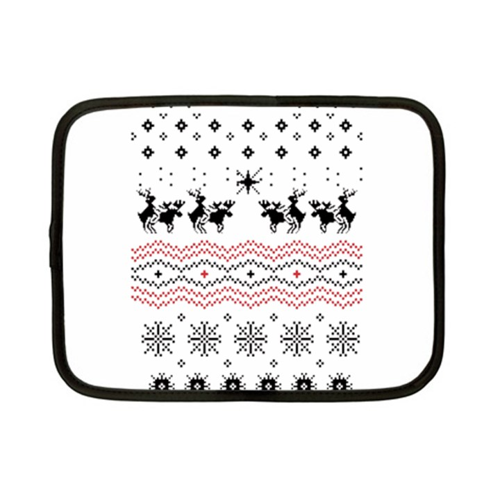 Ugly Christmas Humping Netbook Case (Small)
