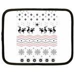 Ugly Christmas Humping Netbook Case (Large) Front