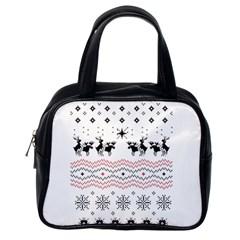 Ugly Christmas Humping Classic Handbags (one Side)