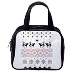 Ugly Christmas Humping Classic Handbags (One Side) Front