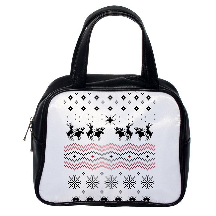 Ugly Christmas Humping Classic Handbags (One Side)