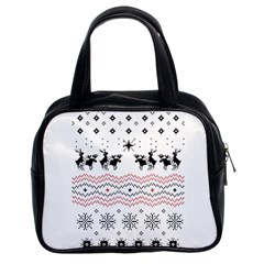 Ugly Christmas Humping Classic Handbags (2 Sides)