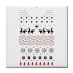 Ugly Christmas Humping Face Towel Front
