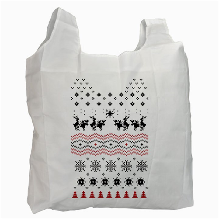 Ugly Christmas Humping Recycle Bag (One Side)