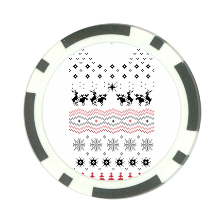 Ugly Christmas Humping Poker Chip Card Guards (10 pack)