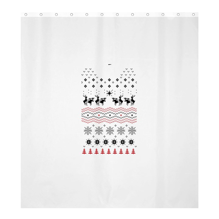 Ugly Christmas Humping Shower Curtain 66  x 72  (Large)