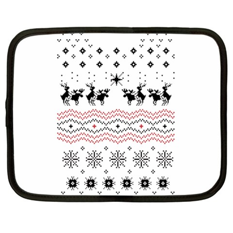 Ugly Christmas Humping Netbook Case (XL)