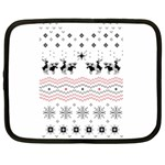 Ugly Christmas Humping Netbook Case (XL)  Front