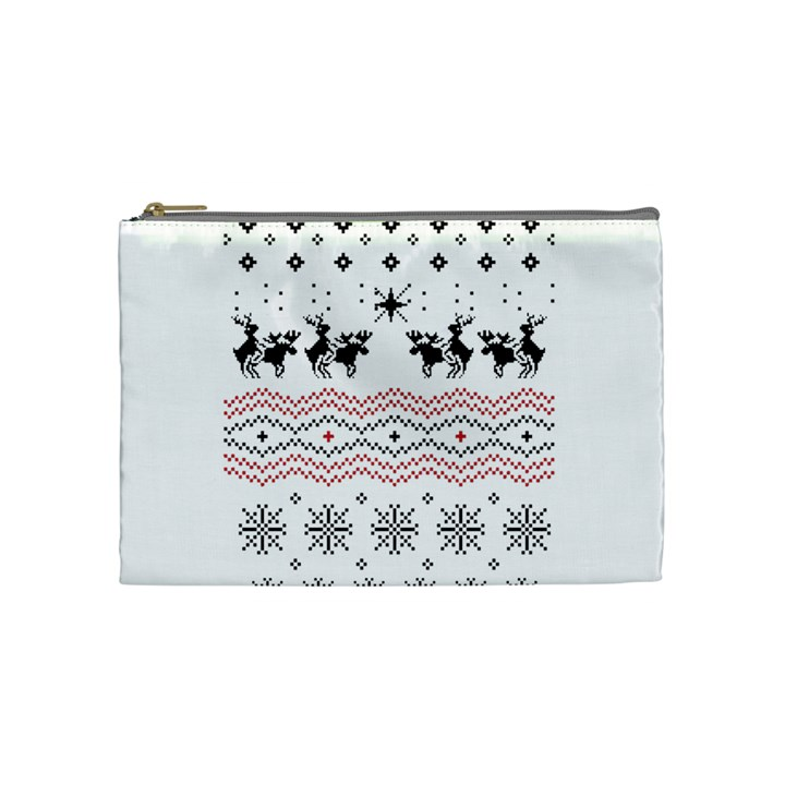 Ugly Christmas Humping Cosmetic Bag (Medium)