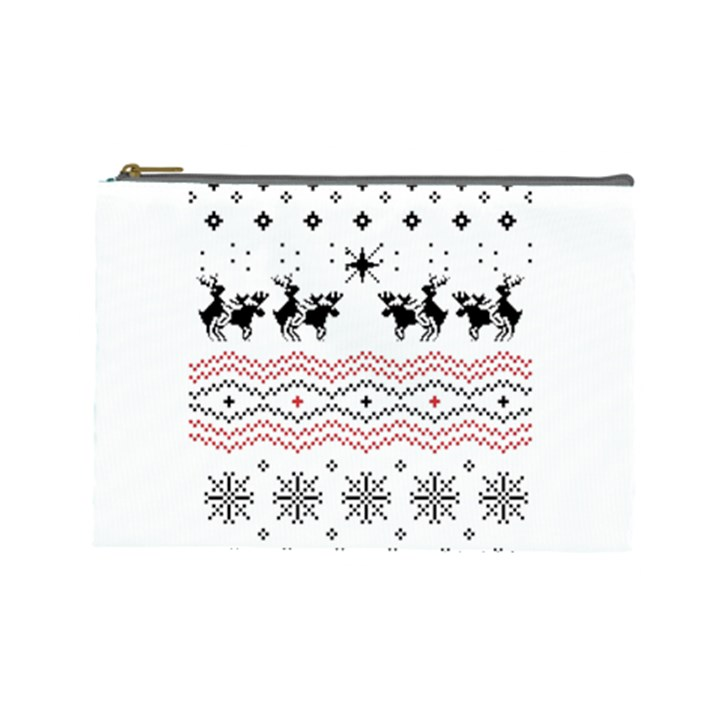 Ugly Christmas Humping Cosmetic Bag (Large)
