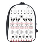 Ugly Christmas Humping School Bags(Large)  Front