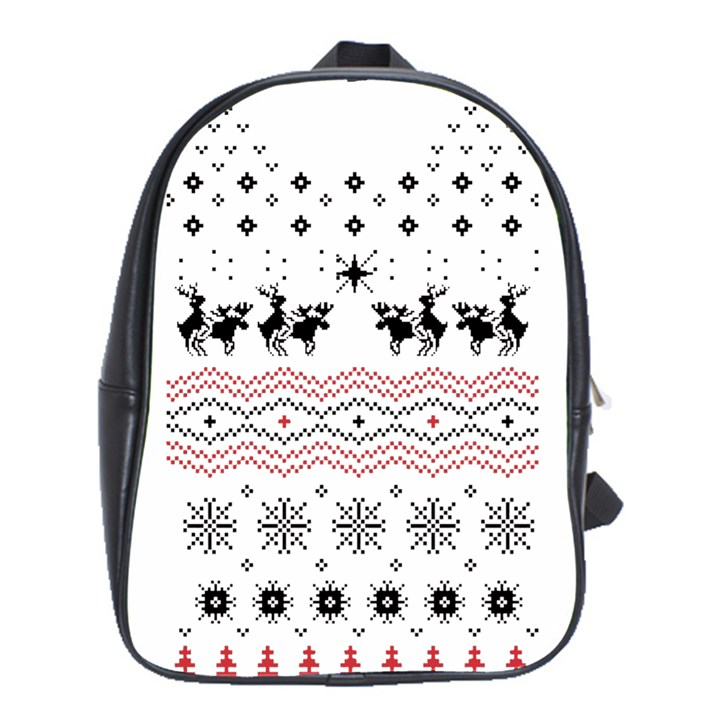 Ugly Christmas Humping School Bags(Large)