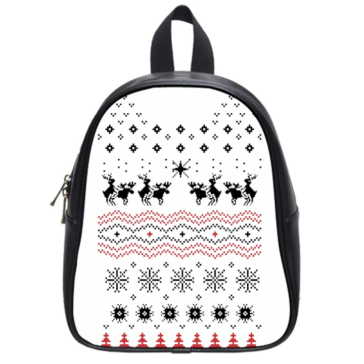 Ugly Christmas Humping School Bags (Small)