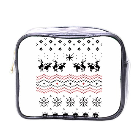 Ugly Christmas Humping Mini Toiletries Bags