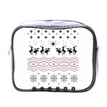 Ugly Christmas Humping Mini Toiletries Bags Front