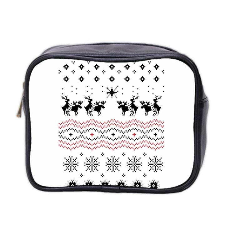 Ugly Christmas Humping Mini Toiletries Bag 2-Side
