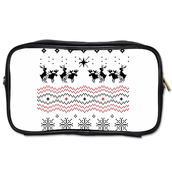 Ugly Christmas Humping Toiletries Bags