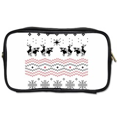 Ugly Christmas Humping Toiletries Bags 2 Side
