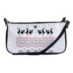 Ugly Christmas Humping Shoulder Clutch Bags Front