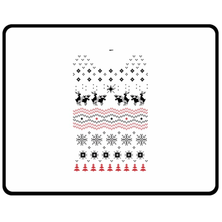 Ugly Christmas Humping Fleece Blanket (Medium)