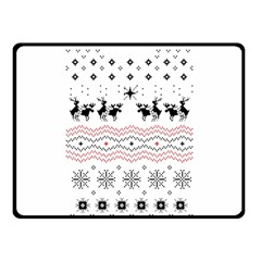 Ugly Christmas Humping Fleece Blanket (Small)