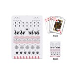Ugly Christmas Humping Playing Cards (Mini)  Back