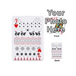 Ugly Christmas Humping Playing Cards 54 (Mini)  Front - Heart7