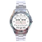 Ugly Christmas Humping Stainless Steel Analogue Watch Front