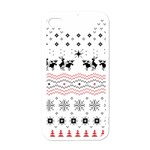 Ugly Christmas Humping Apple iPhone 4 Case (White) Front