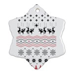 Ugly Christmas Humping Ornament (Snowflake)  Front