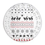 Ugly Christmas Humping Round Filigree Ornament (2Side) Front